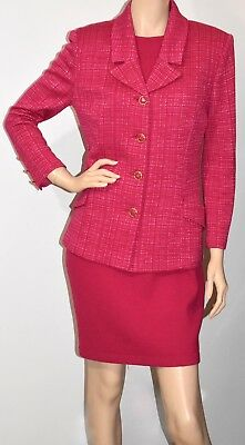 St. John Collection By Marie Gray Pink Sleeveless Dress Size 6/Blaze 8 Suit