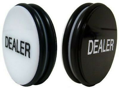 Brybelly Double-Sided Casino Grade Poker Dealer Button Puck - Large 3 Inch