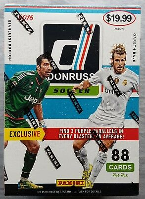Panini Donruss Soccer Fußball Tradings Cards Blaster Box 2016/17 88 Cards!!
