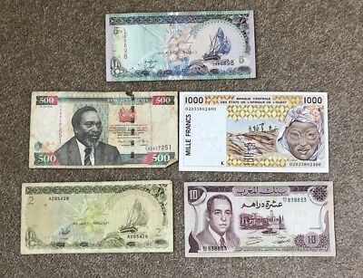 AFRICAN Banknotes x 5