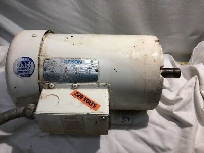 Leeson 1.5 HP 3 Phase 220 - 460 volt Motor C145T11FB4F 1140 RPM
