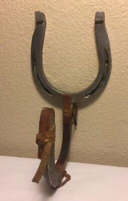 Vintage Horse Shoe Art Made From Aluminum Horse Shoes