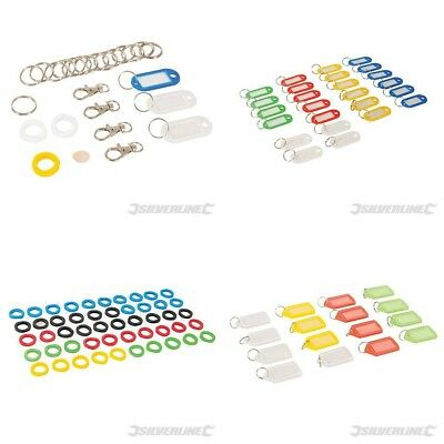 Key Rings Covers Caps Tops Tags Mixed Coloured Id Marker Identification Plastic