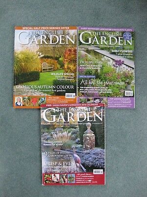Bundle x 3 2015 'The English Garden' gardening magazines