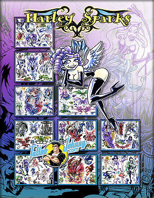 Tattoo Johnny Harley Sparks Wings & Magical Mystical Things Flash Set