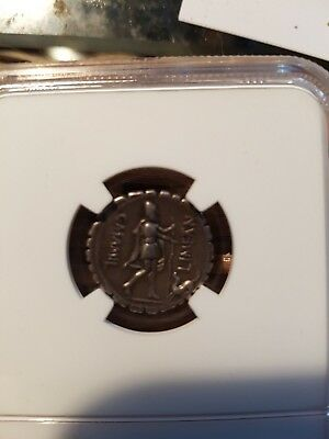 82BC Silver Roman Republic Coin ODYSSEUS returns from ODYSSEY Dog NGC
