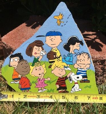 Painted Paver Stone. PEANUTS, Snoopy Woodstock, Charlie Brown And Friends