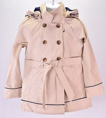 Youth Girl's Nautica NCL0022 Hooded Trench Coat Tan