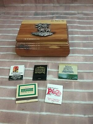 Vintage Las Vegas Souvenir Box And Vintage Las Vegas Nevada Matchbooks Suveniors