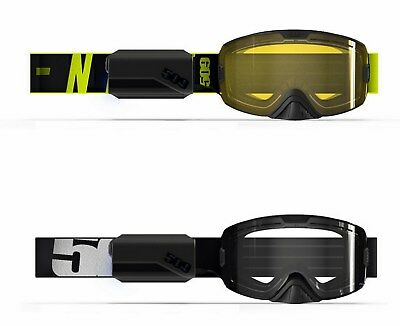 New 509 Kingpin Ignite Black Or Hi-Vis Black Heated Lens Snowmobile Goggles