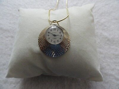 Made in USSR Vintage Slava 17 Jewels Mechanical Wind Up Necklace Pendant Watch