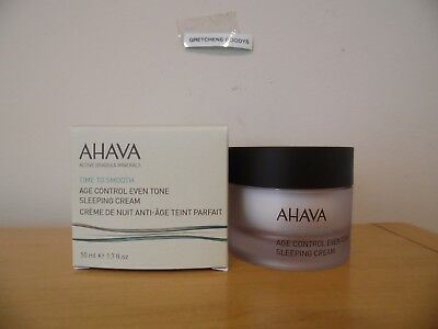 Ahava Time to Smooth Bright Nights Age Control Even Tone Sleeping Cream 1.7 oz