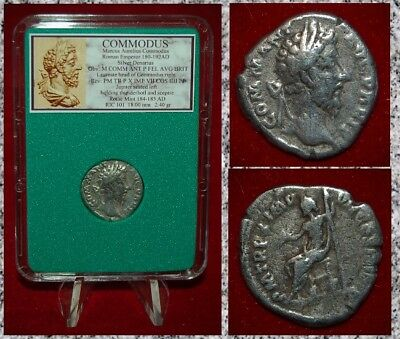 Ancient Roman Empire Coin Of COMMODUS Jupiter On Reverse Silver Denarius