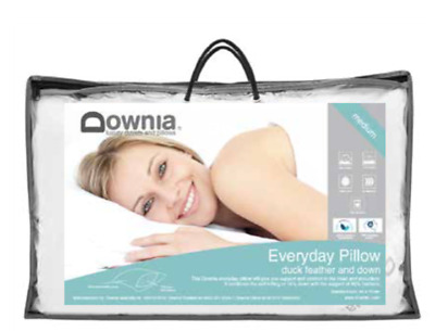 Downia Everyday Collection Duck Feather & Down Standard Pillow Medium NEW