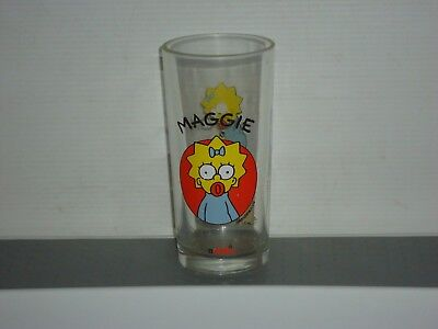 G57  Maggie The Simpsons Glass  1996