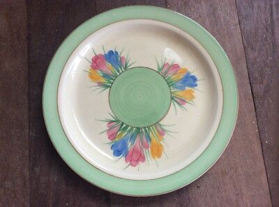 Clarice Cliff Spring Crocus Plate Display Newport Pottery 1935 Hand Painted 2