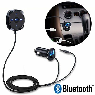 Wireless In-Car Bluetooth FM Transmitter MP3 Control Radio Adapter Car USB AUX