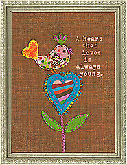 Dimensions D72-73572   A Heart That Loves Applique Crewel Embroidery Kit 5 x 7in