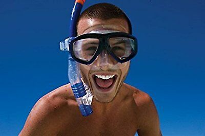 Skirt Seal Reef Explorer Snorkel Safety Mask Set UV Protection Clear Blue 1 Size