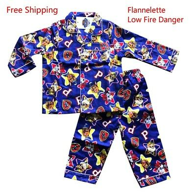 New Winter Thick Flannelette Pyjamas Sleepwear (Low Fire Danger) - Paw Patrol