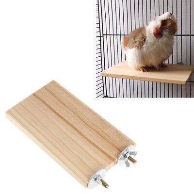 Pet Parrot Wood Platform Stand Rack Toy Hamster Branch Perches For Bird Cage