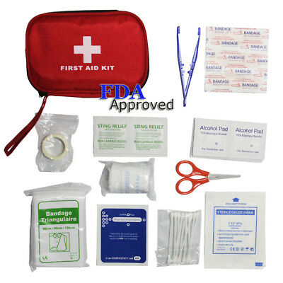41-pc Waterproof Portable Car First Aid Kit Medical Box Emergency Survival Kit