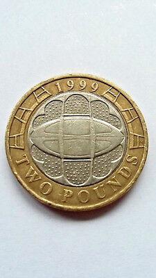 GB/UNITED KINGDOM £ 2 Pounds 1999   'Rugby'!!! Sehr gut!!!