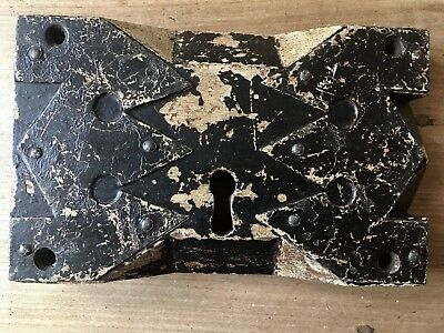 Antique Rim Lock Large Church Old Gothic Original Door Hardware
