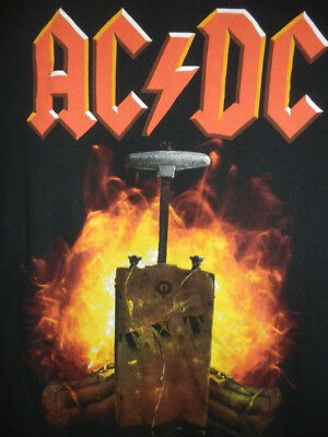 Ac/dc T Shirt Mens Large Dynamite Tnt Acdc Rock Roll Music Band Concert