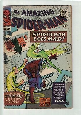 MARVEL COMIC  The Amazing Spider-man No 24 May 1965 12c USA
