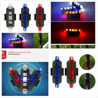 USB Rechargeable Waterproof Mountain Road Safe Bicycle Rear Tail Light 5LED AZO