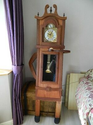 New Unique Furniture Chunky Grandfather Clock on Trunk. Storage. Mouse.