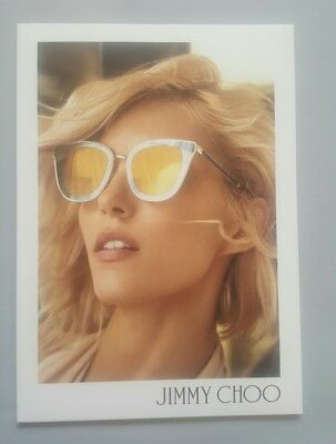 """Jimmy Choo Sunglass Frame Image Countercard Poster Small Size 8.2"""" X 6"""""""