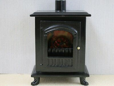 Black Wood Burner Stove Opening Door, Dolls House Miniatures.PLEASE CHECK SIZE
