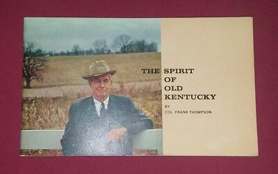 Kentucky Whiskies Recipes Booklet The Spirit Of Old Kentucky By Frank Thompson