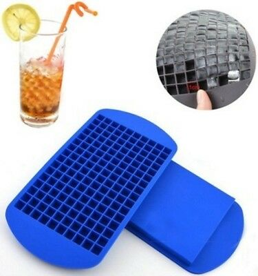 160 Ice Cubes Frozen Mini Cube Silicone Ice Mold Mould Tray Kitchen Tool