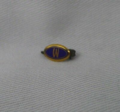 Teeny Woodward's 'W' Brooch Pin 10 Kt. Gold Defunct Dept. Store Canada Vintage