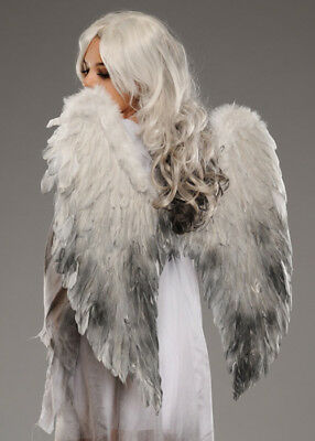 Halloween Gothic Fallen Angel Large Feather Wings