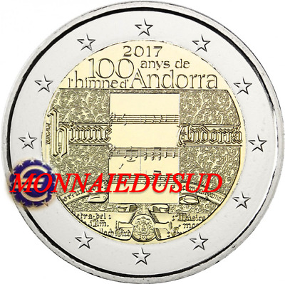 2 Euro Commémorative Andorre 2017 - Hymne National