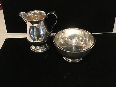Authentic &'signed Tiffany & Co. Sterling Silver Creamer & Sugar Must See No Res
