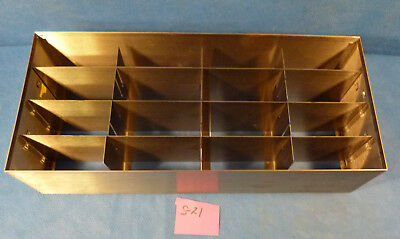 "Cryogenic  Stainless Steel Freezer  Racks 22.25"" X 9.75"" X 5.75"" For 16 Boxes"