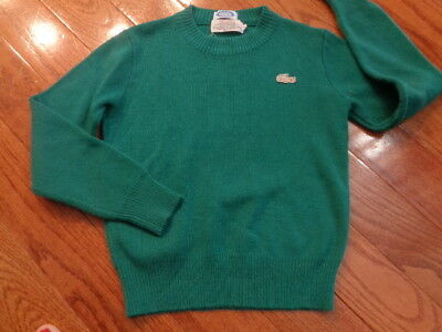 Vintage Lacoste Sweater 8 (fits 6) Green with tan crocodile logo. Very nice.