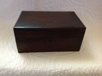 Antique Vintage Wooden Ditty Box