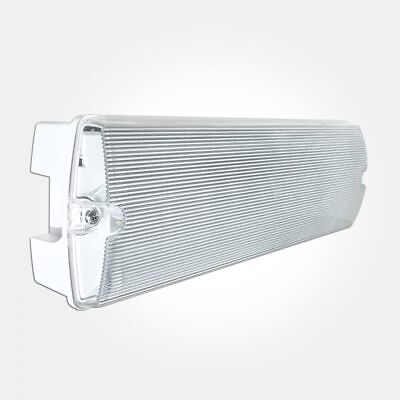 LED Emergency Light Fitting 5W Watt Maintained/Non-Maintained Bulkhead IP65.