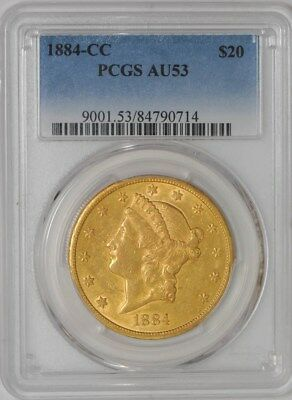 1884-CC $20 Gold Liberty #84790714 AU53 PCGS