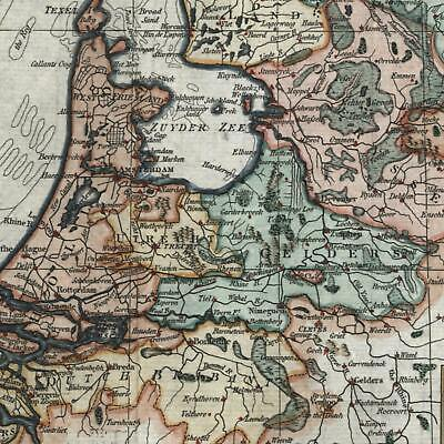 Netherlands Seven United Provinces c. 1790 Russell old hand color map