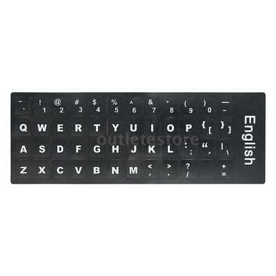 English QWERTY Replacement Keyboard Sticker with Big Letters H8K8