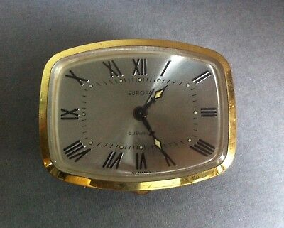 Vintage Europa 2 Jewels Alarm Clock Spares Repairs Parts Pointers Face Front