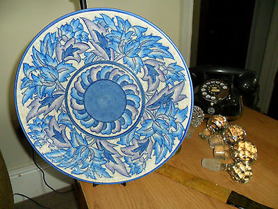Charlotte Rhead Blue Peony charger - plate - wall plate Rare