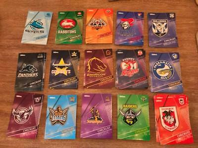2018 NRL Traders Complete Base Sets- Choose your team